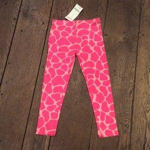 Gymboree Lovable Giraffe leggings Size 4 NWT
